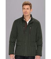 Cole Haan Rail Quilt Down Jacket w/ Leather Detail