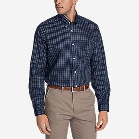 Men's Wrinkle-Free Relaxed Fit Pinpoint Oxford