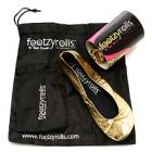Footzyrolls The Rollable Shoe Glittery Gold