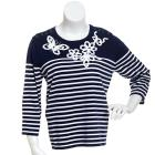Womens Alfred Dunner Bon Voyage Ribbon Sweater