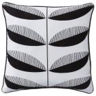Room Essentials Mod Leaf Toss Pillow - Black/White