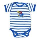 Baby Kansas Jayhawks Striped Bodysuit