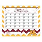 Minnesota Golden Gophers Dry Erase Chevron Calenda