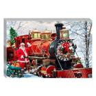 Santa Express Canvas Wall Art