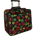 "World Traveler Peace Sign Rolling 17"" Laptop Case"
