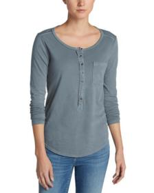 Women's Gypsum Henley Shirt - Solid