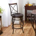 X-Back Counter Stool with Wooden Backrest Accent,