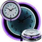 """14"""" Double Ring Neon Clock, Purple Outer & Whi"""