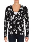 LORD & TAYLOR Petite Floral Button-Front Cardigan