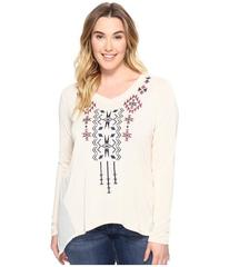 Roper Plus Size 0588 Solid Sweater Jersey Tunic