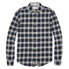 HEATHERED PLAID FLANNEL SHIRT