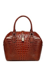 Vicenzo Leather Diane Croc Embossed Leather Tote B
