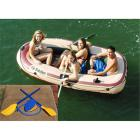 Solstice Voyager Inflatable 4 Person Boat Set