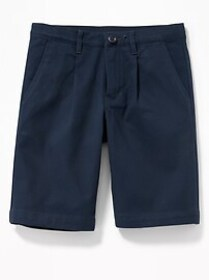 Pleated Built-In Flex Straight Uniform Shorts for