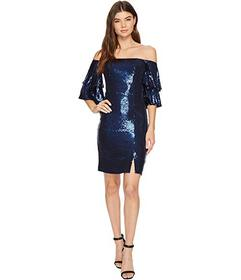 Nicole Miller Charlie Stretch Sequin Party Dress