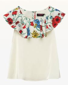 Juicy Couture Ruffle Shoulder Top for Girls
