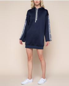 Juicy Couture Tricot Logo Side Snap Hoodie Dress