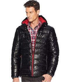Cole Haan Faux Leather Faux Down Jacket