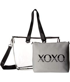 XOXO Clear Tote w\u002F Logo Clutch