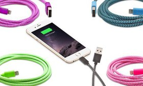 Aduro Apple-Certified Cloth Lightning-to-USB Cable