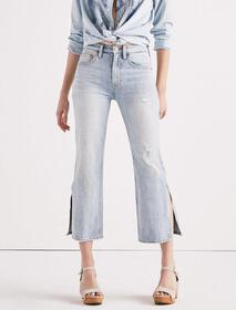 Lucky Pins High Rise Side Slit Jean In Mira Mar