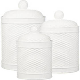 Home Essentials Set of 3 Basket Weave Embellished