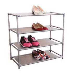 Home Basics 12 Pair Non-Woven Shoe Rack