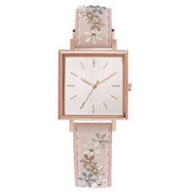 Womens Adrienne Vittadini Square Face Watch - AD13