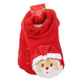 Womens Capelli Santa Knit Pull On Extended Cuff Sl