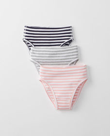 Hanna Andersson Hipster Unders 3 Pack In Organic C