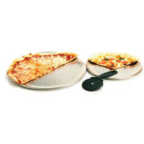 G&S Metal EZ Baker Pro-2 Pizzas Pans with Cutter