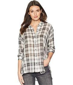Splendid Willow Voile Plaid Button Up