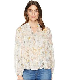 Lucky Brand Floral Printed Peasant Top