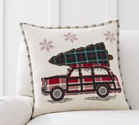 All The Way Home Embroidered Pillow Cover