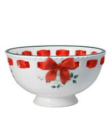 Footed Bowl with Ribbon