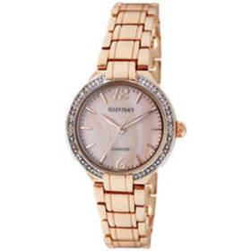 Womens Ellen Tracy Rose Gold Mother of Pearl Watch