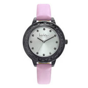 Womens Nicole Miller New York Silver Dial Watch -