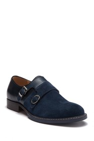 Vintage Foundry The Obsidian Monk Strap Suede Shoe