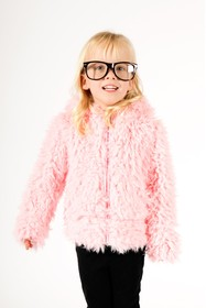 Limeapple Sport Faux Fur Hoodie (Baby & Toddler Gi