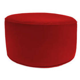 Jordan Manufacturing Round Pouf/Ottoman-Solid Rojo
