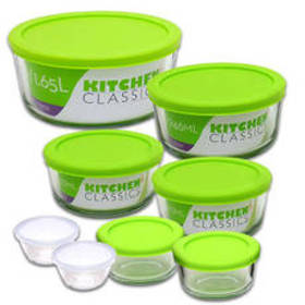 Kitchen Classics 16pc. Round Food Storage with Gre