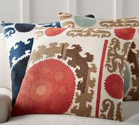 Suzani Embroidered Pillow Cover