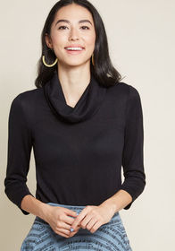 ModCloth ModCloth Sample Simplicity Knit Top in Bl