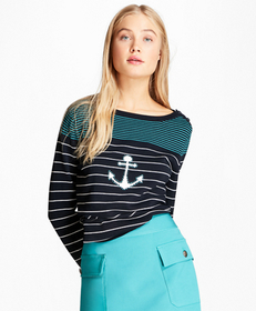 Cotton Anchor Sweater