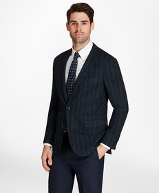Regent Fit Herringbone Knit Sport Coat