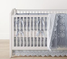 Remi Chambray Eyelet Baby Bedding