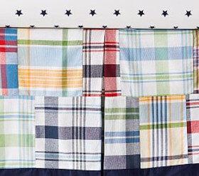 Madras Crib Skirt