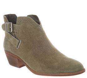 """""""As Is"""" Vince Camuto Suede Exposed Ankle Booties-"""