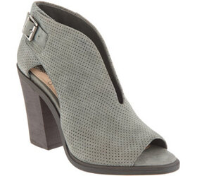 """""""As Is"""" Vince Camuto Suede Front V-Cut Peep Toe Bo"""