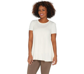 """As Is"" LOGO by Lori Goldstein Rayon 230 Swing Top"